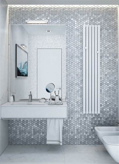 Minimalist Bathroom Modern Tiles Bathrooms Grey Mosaic