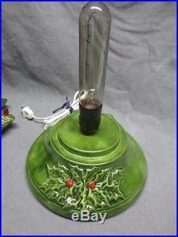music box for christmas tree lights vtg 16 ceramic tree light with box leaf berry base