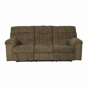 Ashley antwan reclining sofa with drop down table in for Sectional sofa with drop down table