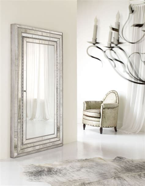 floor mirror with jewelry storage furniture accents melange floor mirror w jewelry armoire storage 638 50012