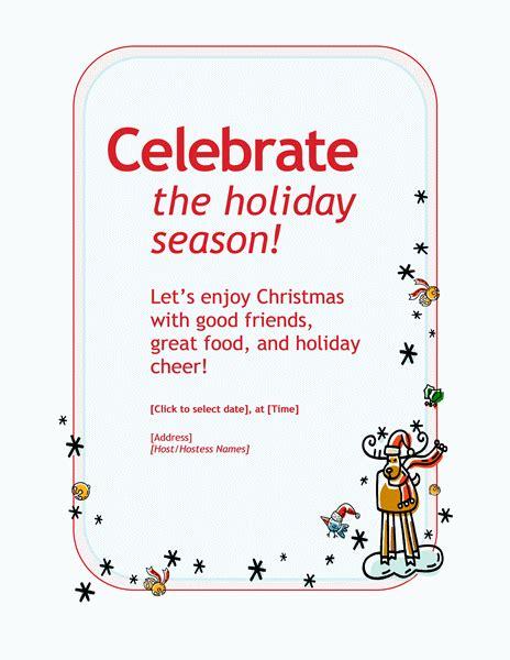 holiday party invitation template eysachsephoto com