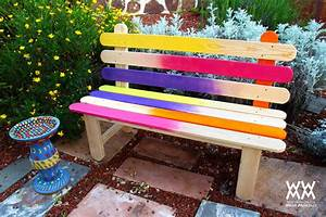 Popsicle Stick Bench - Colorful DIY Project for Your Garden