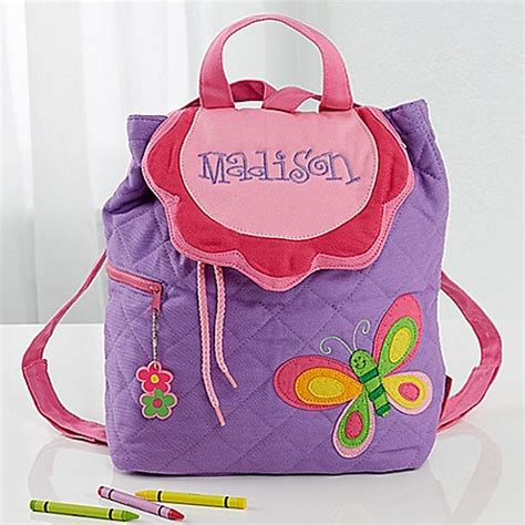 butterfly embroidered kids sidekick backpack  stephen