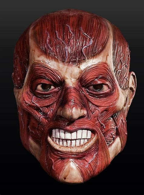 flayed head latex full mask maskworldcom