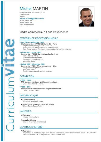 Modele Du Cv by Mod 232 Les De Curriculum Vitae Mod 232 Le Gratuit De Cv Degisco