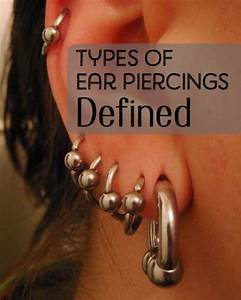 Ear Piercing Types And Styles