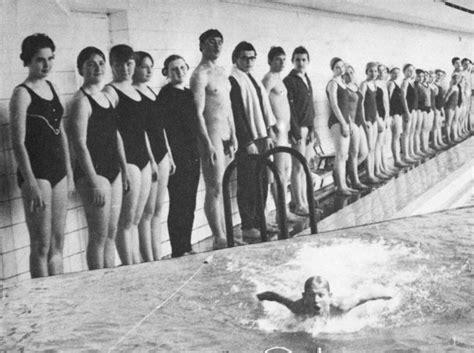 vintage nude swim team cumception