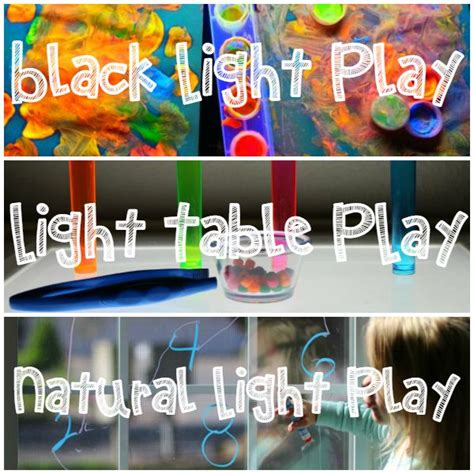light play activities for kids light black light