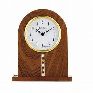 Bulova, Hampton, Desk, Clock, At, 1