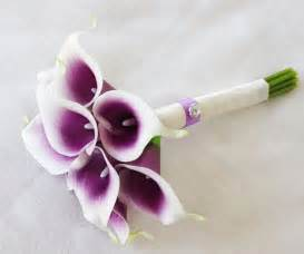 where to buy corsage and boutonniere silk flower wedding bouquet purple heart calla lilies