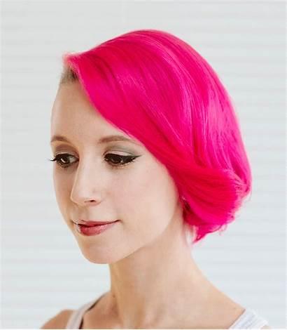 Hair Makeup Alternative Half Pink Hairstyles Shave