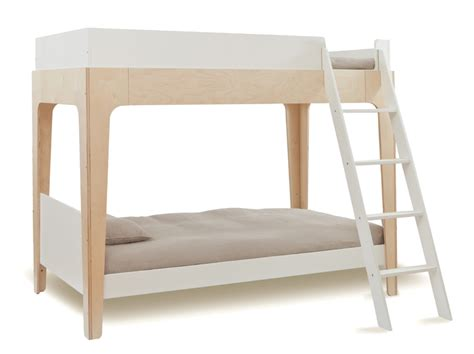 perch twin bunk bed in white birch by oeuf