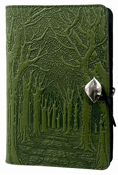 Leather Journal Trees Avenue Covers Notebook Oberon