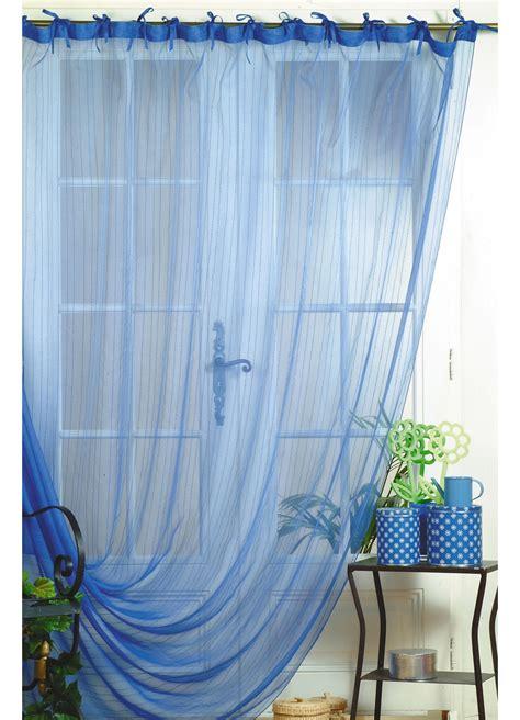 vente rideaux en ligne rideau d 233 co voile et organza fantaisie rayures miami bleu homemaison vente en ligne