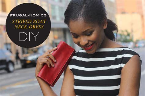 Boat Neck Dress Diy by Mood Diy Striped Boat Neck Dress Mood Sewciety