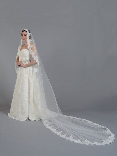Mantilla Bridal Wedding Veil Elbowfingertip V030