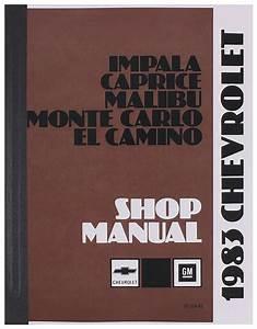 Chassis Service Manual Fits 1983 El Camino   Opgi Com