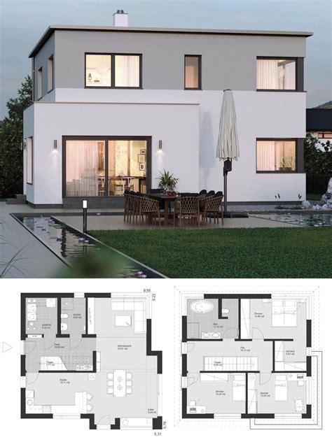 Moderne Haus Planung by Moderne Bauhaus Stadtvilla Neubau Grundriss Mit Flachdach
