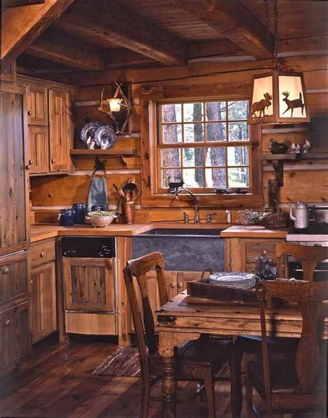 rustic cabin kitchen cabinets s cozy log cabin in montana kitchen sinks 4962