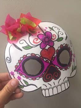 day   dead sugar skull mask  techie treasures tpt