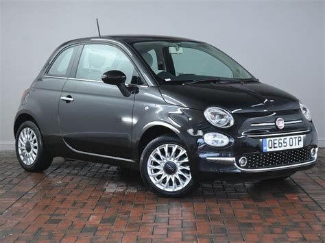 Fiat 500 Black by Fiat 500 1 2 Lounge 3dr Black 2015 In Winsford