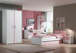 Tiroir lit contemporain blanc et rose Eglantine Tiroir lit CHAMBRE ENFANT CHAMBRE