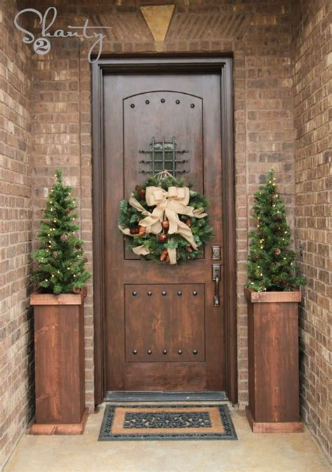 decorations for front door 40 stunning christmas front door d cor ideas christmas decoration