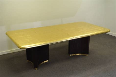 gold table l custom gold leaf deco style extension dining table