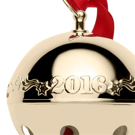 wallace gold sleigh bell ornament  wallace christmas