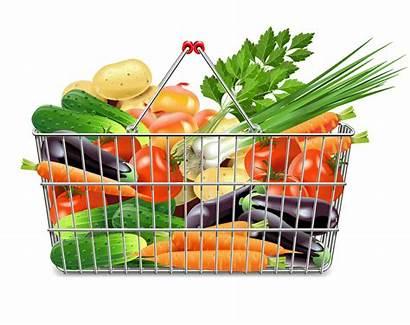 Basket Vegetables Shopping Supermarket Clipart Transparent Vegetable