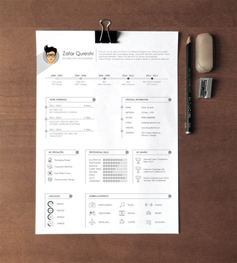 free professional resume cv template for graphic designers