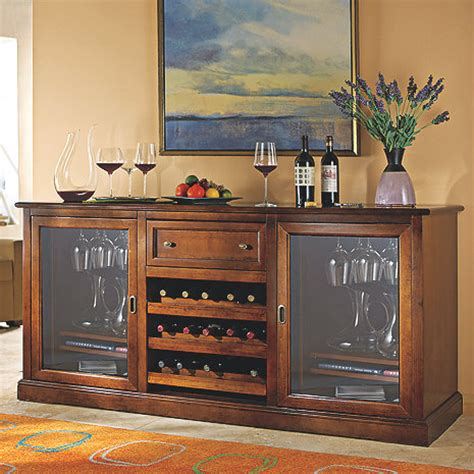 Wine Storage Credenzas - siena wine credenza wine enthusiast