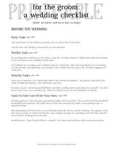 Groom Wedding Checklist Printable