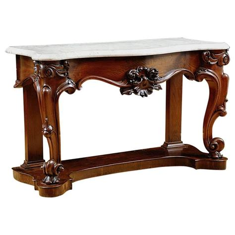 marble top sofa table antique american console table in mahogany with white