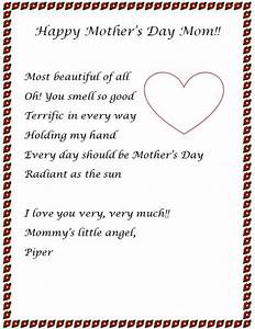 mothers day letter ideas 2014 for mom letter ideas for With mother s day letter template