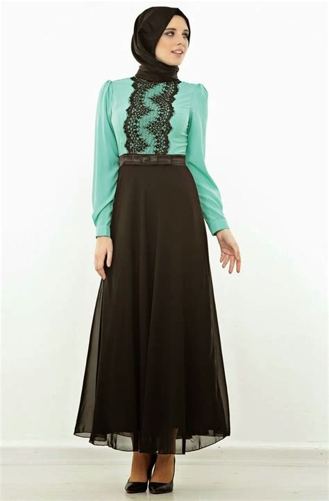 tampil fashionable  model dress muslim terbaru