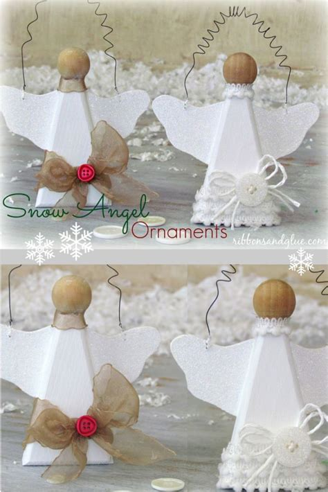 snow angel ornaments easy christmas crafts angel
