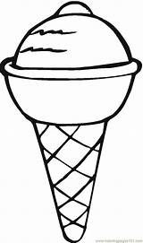 Coloring Desserts Ice Cream Dessert Printable Dibujos Printables Library Clipart sketch template