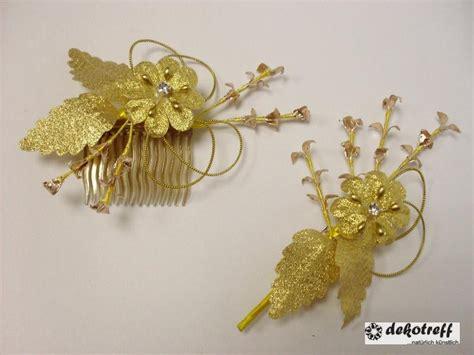 haarschmuck anstecker set goldene hochzeit  jahre