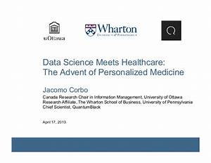 Data Science Meets Healthcare: The Advent of Personalized ...
