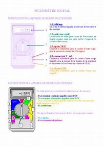 Utilisation D Un Multimètre Digital : multimetre mas notice manuel d 39 utilisation ~ Gottalentnigeria.com Avis de Voitures