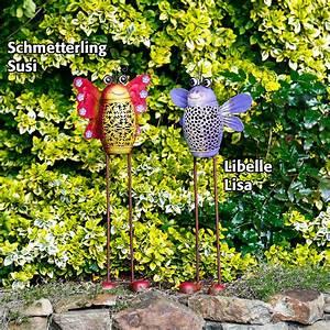 Solarlampen Für Draußen : solar gartenstecker libelle lisa von g rtner p tschke ~ Whattoseeinmadrid.com Haus und Dekorationen