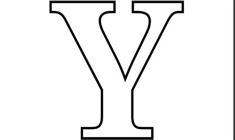 Printable Pdf Letter Y Coloring Page