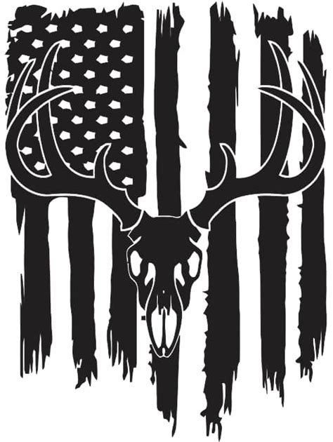 Also you can search for other artwork with our tools. Deer flag Free DXF File Silhouette USA Flag & Vectors ...