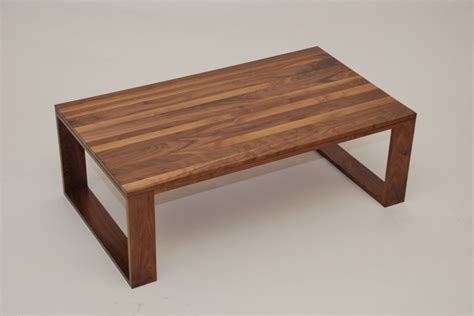 Walnut Geo Leg Coffee Table   Contemporary   Coffee Tables   kansas city   by Belak Woodworking LLC