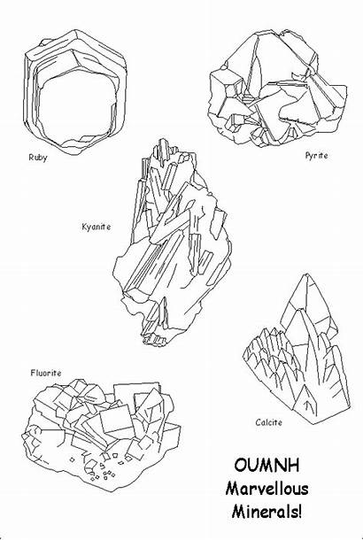 Minerals Sheet Colouring Rocas Skip Zone Learning