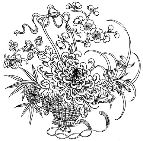 free flower coloring pages for adults Join my grown up