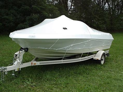 Boat Shrink Wrap Or Cover by Sewn Cover For V Hull Boats 19 21 Tsc 1053 Shrink