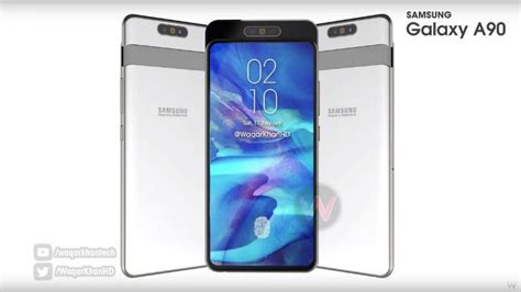 samsung galaxy a90 concept and specs show up rotating 48mp 6 7 inch display and