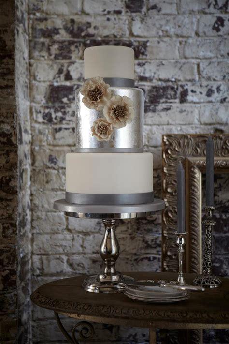 gorgeous metallic wedding cakes belle  magazine